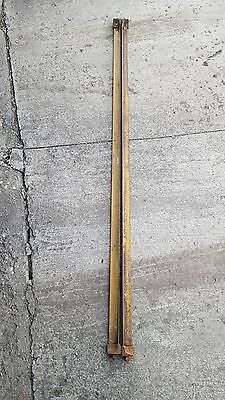 Vintage Cast Iron Tapered Cone Pin Bedrails Bed Frame Side Rails for Twin/Full