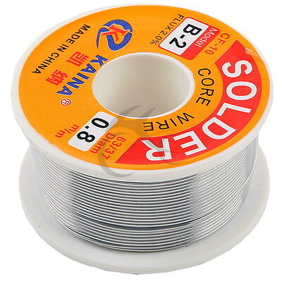 0.8mm Tin Lead Soldering Wire Reel 63/37 Rosin Core Solder 14m Wire Length New