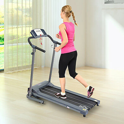 HOMCOM-Tapis roulant elettrico 500W con display LED home trainer per il fitness