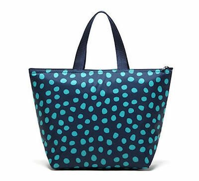 Defect Thirty one Thermal Picnic lunch Tote storage Bag Navy Lotsa dots 31 gift