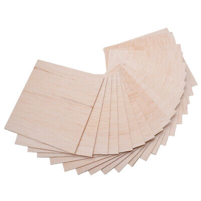 20Pcs 100x100x1mm Wooden Plates Model Balsa Wood Sheets Board DIY House Craft