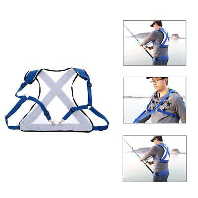 Adjustable Strap Mesh Fishing Back Harness for Stand Up Offshore Fishing