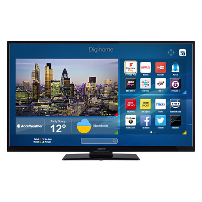 """Digihome 40292UHDSFVPT2 Black 40"""" 4K Ultra HD Smart LED TV WiFi Freeview Play"""