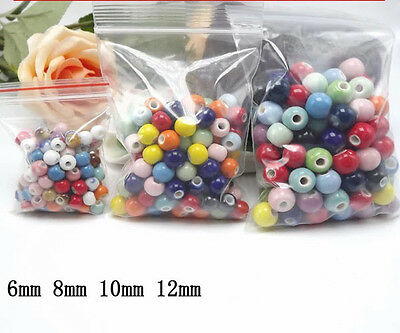 Jingdezhen ceramic! 50/100pcs Ceramic beads DIY Accessories 6mm,8mm,10mm,12mm