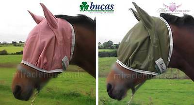 Bucas Buzz Off FREEDOM Fly Mask Fliegenmaske Rose Rosa Olive Grün XXS bis XL %%%
