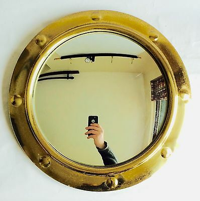 Lovely 1930's Art Deco Porthole Style Convex Mirror, Butlers Mirror