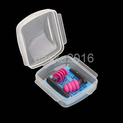 Swimming Surfing Ear Plug Earplug Water Sports Ear Protectors -- Rose Red
