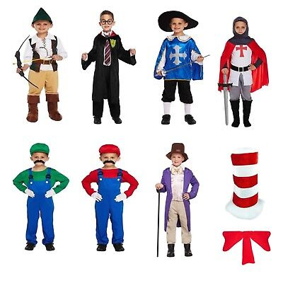 Boys Fancy Dress Dressing Up Outfits Costumes Various World Book Day 4-12 years