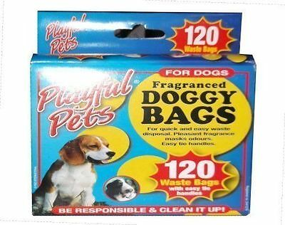 120 x Scented Dogs Poo Pets Dog Poop Scoop Pals Doggy Dirt Waste Bags Dispose