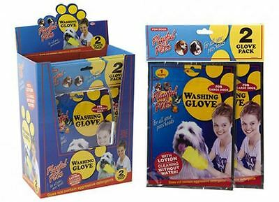 2 Pack Dog Washing Cleaning Glove Pet New Wash For Dogs