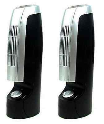 "2 x 12"" AIR PURIFIER IONISER SILENT FRESHENER REVITALISER CLEANER IONIZER FILTER"