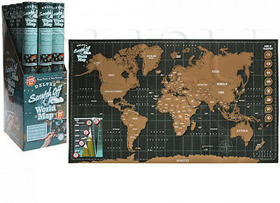 Personalized Travel Vacation Personal Gift Uk Large Scratch Off World Map Poster