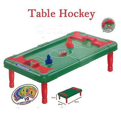 Table Air Ice Football Soccer Hockey Pucks Kids Children Fun Games Mini Top