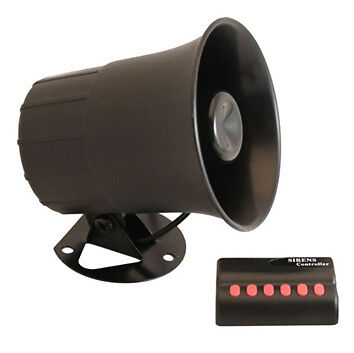 12V Car Boat Van Siren Horn 6 Novelty Tones New Boxed