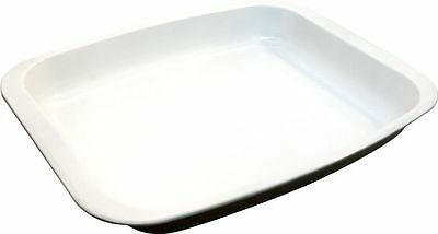Ceramic White Coated Bakeware Non Stick Oblong Roaster Roasting Tray 32 X 25