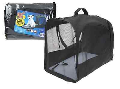 New Pet Carrier Collapsible Fold Up Away Cat Small Dog Rabbit Carriers Travel