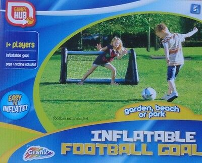 Inflatable Football Goal Garden Game Outdoor or Indoor Family Fun Grafix New