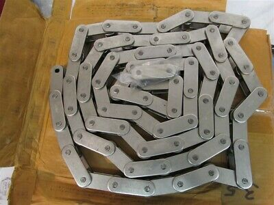 Global C2082HSS, Stainless Steel, Double Pitch Riveted Chain - 11-1/2'
