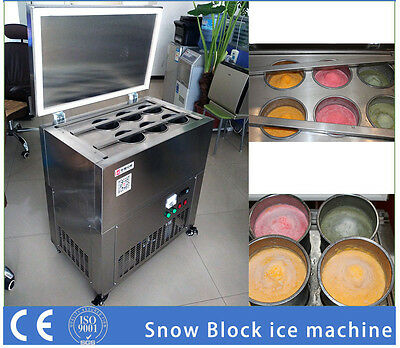 New Snow Flake Ice Block Making Machine for Ice Shaving Cream Shipped by Sea