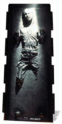 Han Solo in Carbonite Star Wars Lifesize Cardboard Cutout / Standee  *Damaged*