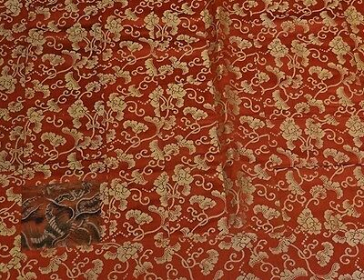 19th C. Japanese Silk Buddhist Priest's Cape in Orange