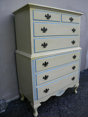 Mahogany Painted Queen Ann Chest on Chest / Chest of Drawers 1507