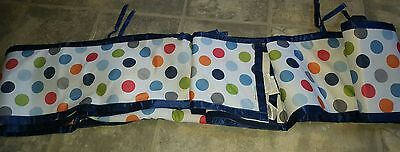 Baby breathable bumper pads blue boy polka dots