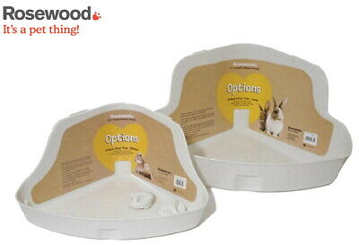 Rosewood Small Animal Plastic Medium Large High Back Clean Tidy Litter Tray Pan