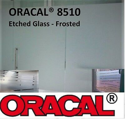 """24""""  by Feet ORACAL® 8510 Silver Fine Etched Glass Frosted Vinyl decorative"""
