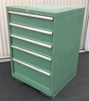 USED STANLEY VIDMAR 5 DRAWER CABINET INDUSTRIAL TOOL BOX STORAGE LISTA Type