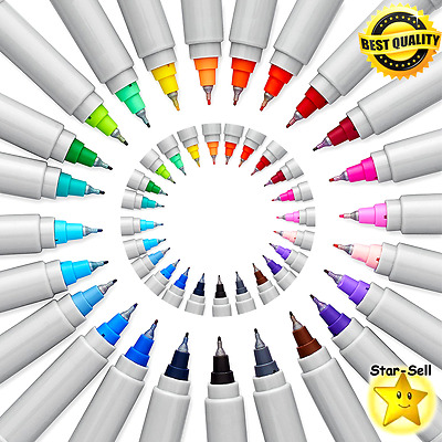 Permanent Markers Ultra Fine Point Assorted Colors Drawing Marker Set 24 Pack