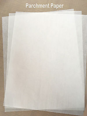 "8 x 12"" silicone Parchment Paper  for Heat Press Transfer Made in Europe 100pcs"