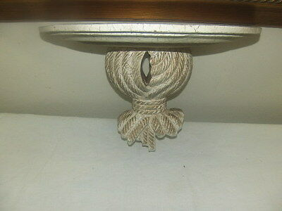 Shabby Chic Vintage Wood Wall Sconce Shelf Distrees