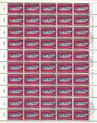 Luxembourg - 2,50F Exposition Universelle De Bruxelles Full Sheet (1958) Mnh