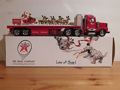 2000 Texaco Holiday Collector's Series Flatbed Truck w/ Santa Sleigh