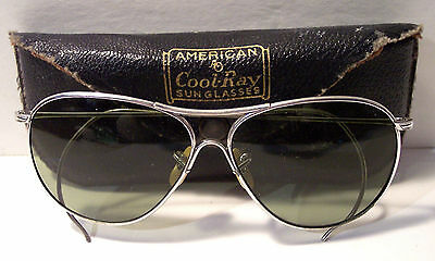 Cool Ray American Optical AO vintage aviator sunglasses with case
