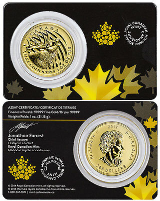2017 Canada $200 1 Troy oz. Gold Call of the Wild - Crowned Elk In OGP SKU45621