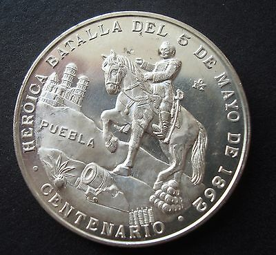 Mexico Medal Heroic Battle Of Cinco The Mayo Uncirculated 1862