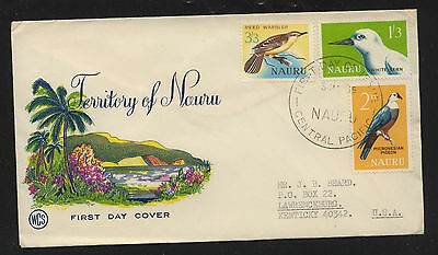 Nauru  54-56  on  cachet cover first day             KL1205