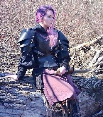Leather Woman Game of thrones medieval armour roleplay armor LARP SCA costume