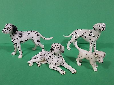 Schleich Safaril ltd lot of 4 dogs Dalmatian family