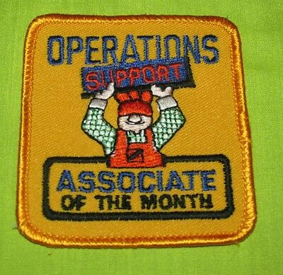 New = Home Depot Operations Support Associate Of The Month Badge Patch Vintage