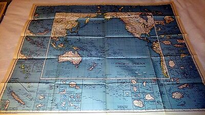 (4) Vintage National Geographic Large Foldout Maps 1936 - 1944