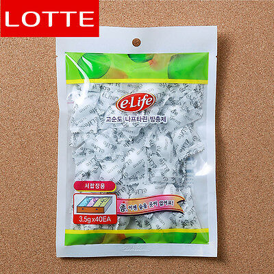 Lotte's 40 Pieces of Naphthalene (For drawer) Moth Home repellent Good Scent HG