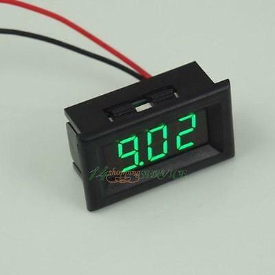"Digital Voltmeter DC2.7-30V Green 0.36"" LED 3 Digit Digital Panel Voltage Meter"