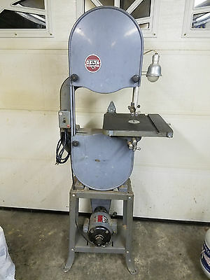"""Delta/Milwaukee 14"""" band saw for wood working 110 volts works excellent"""
