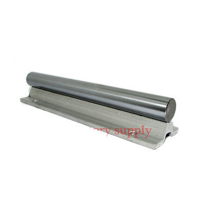 SBR20-300mm  linear rail guide HARDENED ROUND SHAFT CNC router rod slide bearing