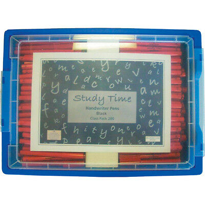 Study Time Handwriting Pen - Black ( Class Pack 200)