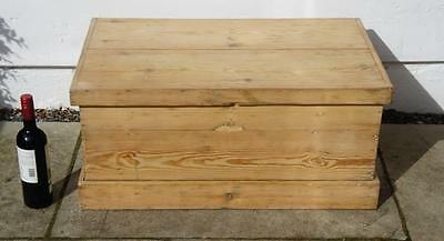Early 20th century pine blanket box/chest, rustic, solid, refurbished VGC