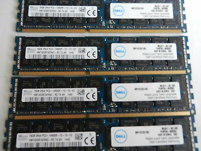 Dell 16Gb PC3-14900R 2Rx4 DDR3-1866 Dell certified ECC Hynix Chipset12 mths warr